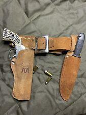 Vintage Mattel Fanner Shootin Shell Cap Gun and Knife with Holster