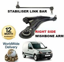 FOR RENAULT KANGOO VAN 2008-> NEW RIGHT SIDE WISHBONE ARM & STABILISER LINK BAR