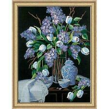 Dimensions Lilacs and Lace by Linda Tompkin 1529 Crewel 12 X 16