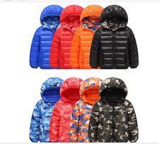 Winter Kids Girls boys camouflage cotton down jacket puffer coat hooded parka