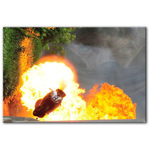 Guy Martin Lucky Escape TT 2010 | Canvas Print Wall Art Photo | 5 Sizes