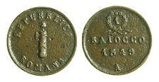 pci2275) ANCONA Seconda Repubblica Romana, Baiocco 1849