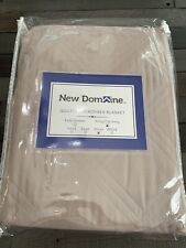 New Domaine King/cali King Quilted Microfiber Blanket -silver