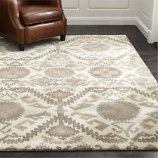 Crate & Barrel Orissa Neutral Handmade Persian Style Woolen Rugs & Carpet
