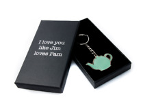 Pam and Jim Teapot Keychain from The Office TV Show. Romantic Gift.Free Shipping