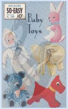 Reproduction Vintage Baby Toys Bunny Dog Teddy Doll Sewing Pattern 139