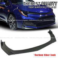 Carbon Fiber For Toyota Corolla Hatchback 01 21 Front Bumper Lip Spoiler Splitte Fits 2002 Toyota Corolla