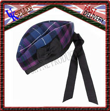 PRIDE OF SCOTLAND TARTAN 100% WOOL GLENGARRY HAT SCOTTISH HIGHLAND WEAR