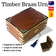 Timber Urn with Brass Features - Large Size