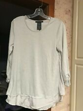 Grace Elements Layered Look Split Back Top  Size S