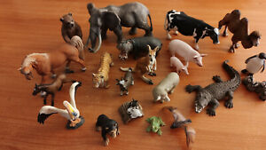 Schleich Mixed Animals - 21 animals, including elephant, horse, camel. With box