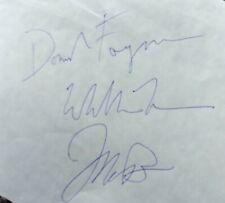 New ListingSteely Dan hand-signed x3 autograph;Donald Fagen,Walter Becker,Jeff Skunk Baxter