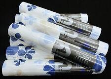 13294-10-6) 8 Rollen Vliestapeten Blumen-Design mit Glanz - weiss beige blau