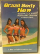 Brazil Body Now Booty Lift 6 DVD workout fitness exercise set Katia dance samba