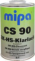 2K CLEARCOAT LACQUER KIT MIPA CS90 5L Litre HS 2.5L FAST HARDENER ACRYLIC PAINT