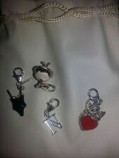 CHARMS - ZAMELS  X4 STERLING SILVER  (URGENT SALE)