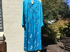 Vintage blue silk satin Chinese dressing gown retro