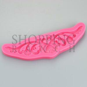 Pretty Swirl Silicone Mould Vintage Wedding Cake Topper Lace Fondant Tool