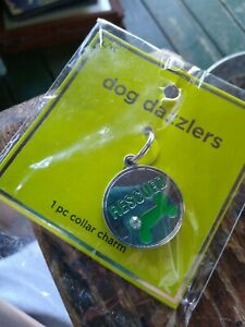 Rescued  Engravable Rescue Pet Dog Cat ID Tag Pet Collar dazzler Charm new