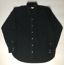 Original Yves Saint Laurent (YSL) Mens Formal Long Sleeve Button Navy Shirt