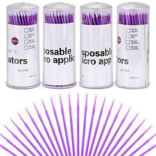 100 Pcs 15mm Ultrafine Purple Dental Micro Brush Disposable Eyelash Applicators