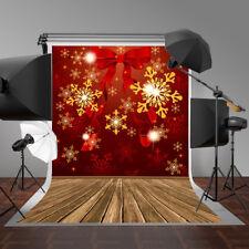 7X5FT Christmas Vinyl Backdrop Photography Prop X'MAS Studio Photo Background US