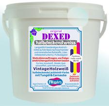Fasersichtanstrich Weißlasur Leinölfirnis weiß  5 Liter halbdeckende Ölfarbe