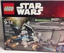 LEGO Star Wars First Order Transporter 75103 NIB exclusive mini's 7 mini figures