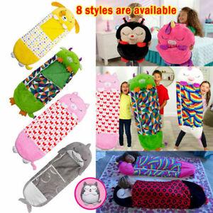 Happy Nappers Sleeping Bag Kids Boys Girls Play Pillow Unicorn Xmas Gifts NEW