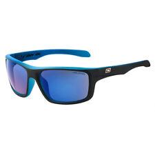 DIRTY DOG AXLE 53353 POLARISED SUNGLASSES SATIN BLACK on BLUE  / BLUE MIRROR