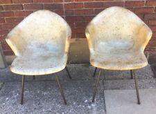 Pair Of Mid Century Modern Fiberglass Shell Chairs Eames/Herman Miller?