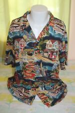 Paradise Found Men's San Fransisco Hawaiian Shirt Size XL Golden Gate Powell