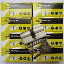 8 Yale keyed alike cylinder lock Upvc Door Lock euro profile  same key twins lot