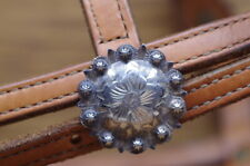 Sterling * Silver * Berry * Edged * Concho * Headstall