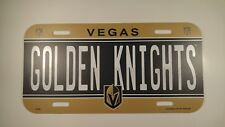Vegas Golden Knights Plastic License Plate