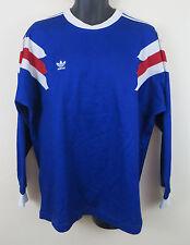 Para Hombre Adidas Trébol Vintage Camiseta de fútbol Francia Camiseta de 80s estilo 1989 Grande L