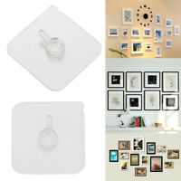 Transparent Storage Hanger Photo Frame Hook Wall Hanger Seamless Adhesive Hooks