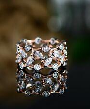 Sevil 18K 2T Gold Plated Filigree Ring Made With Swarovski Elements