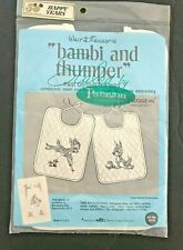 Vintage Paragon Walt Disney Baby Bib KIT Quilted bibs BAMBI & THUMPER #0776 NEW