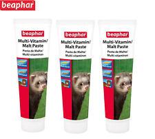 More details for beaphar multi vitamin malt paste for ferret anti hairball 3 x 100g tubes taurine
