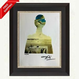 Salvador Dali -Couple with Clouds in Their, Original Hand Signed Print with COA