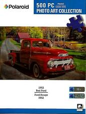 """Jigsaw Puzzle 500pc Polaroid 1952 Red Ford Puckup Truck 11""""x 18-1/4"""" NEW #TY58"""