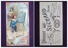 CARTE IMAGE CHROMO RECLAME CHOCOLAT SUCHARD NOISETTES N°11 BLAISE PASCAL