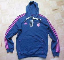 STADE FRANCAIS Paris FRANCE RUGBY hoodie sweatshirt ADIDAS 2012-2013 men SIZE S