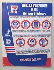1984 NHL ACTION STICKERS checklist sheet 7-Eleven Slurpee WAYNE GRETZKY