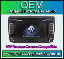 VW RCD 510 car stereo, Rear View Camera Input, VW Caddy 6CD player touchscreen