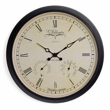 NeXtime 25 Cm WEHLINGTON Weather Station Metal Wall Clock