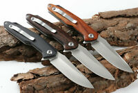 """5"""" G10 or Nutural Wood Handle ball bearing Folding Knife with 440C Pocket Knife"""