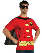 Robin (male) T-shirt Adult Costume Kit Fancy Dress Halloween Outfit Medium as SHOWN