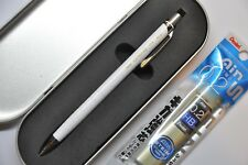 Pentel ORENZ 0.2 mm Automatic Pencil White Barrel (free 0.2 HB refill + Case)